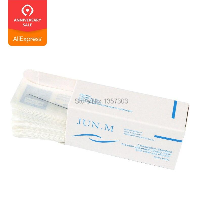 500Pcs/box 1R Single Round Needles For Eyebrow/Eyeliner/Lips Permanent Makeup 0.35*50mm Cosmetic Tattoo Needles
