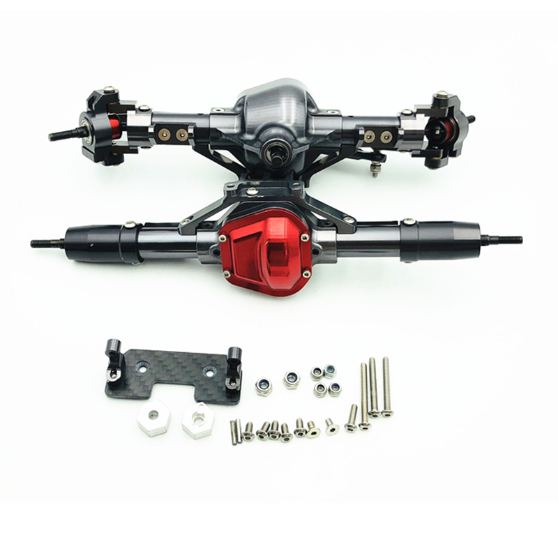 1/10 Rc Car Complete Alloy Front And Rear Axle Cnc Machined For 1:10 Rc Crawler Axial Scx10 Rc4Wd D90 D1101/10 Rc Car Complete Alloy Front And Rear Axle Cnc Machined For 1:10 Rc Crawler Axial Scx10 Rc4Wd D90 D110