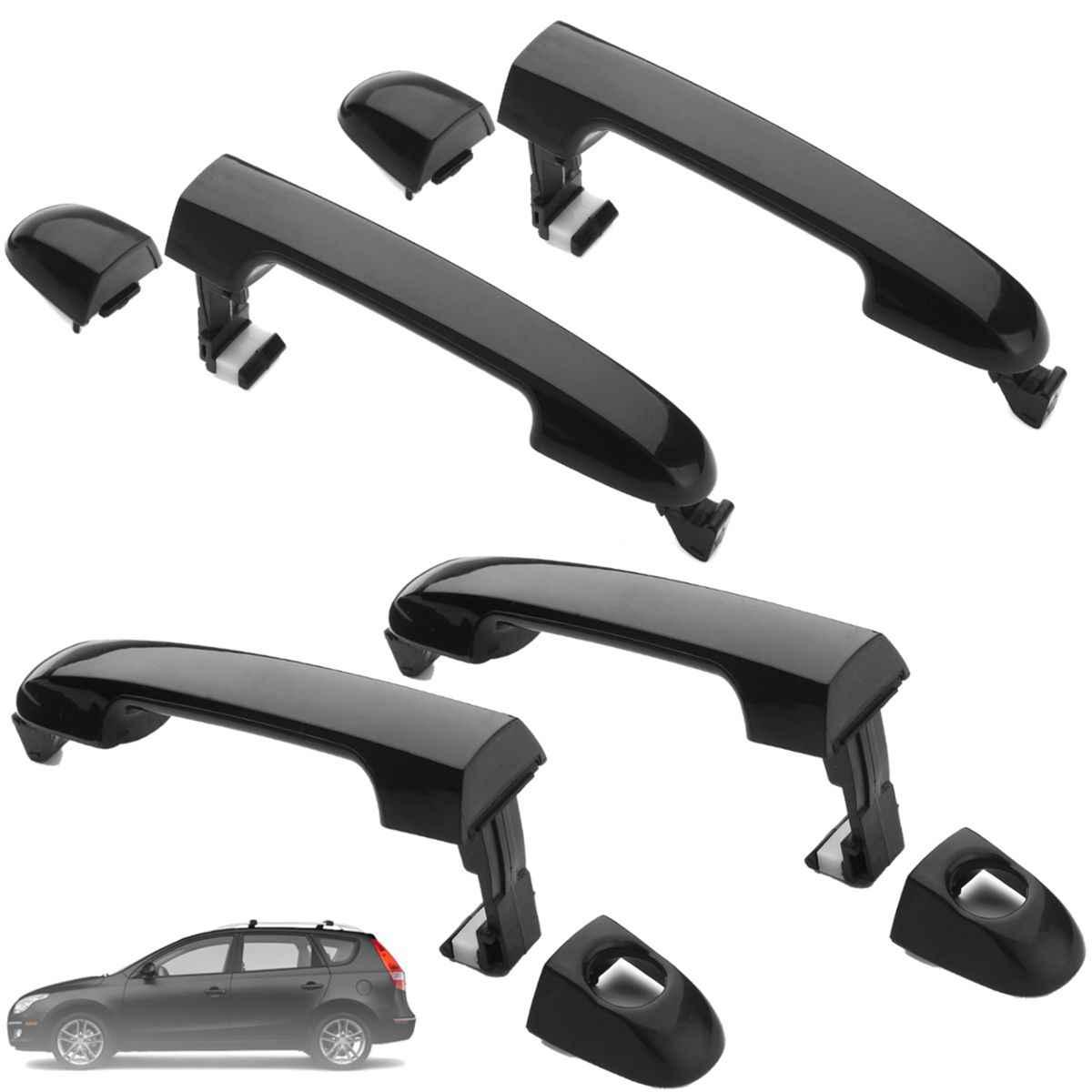 Front Right Rear Left or Right Door Handle Black for Hyundai Elantra 2007 2012