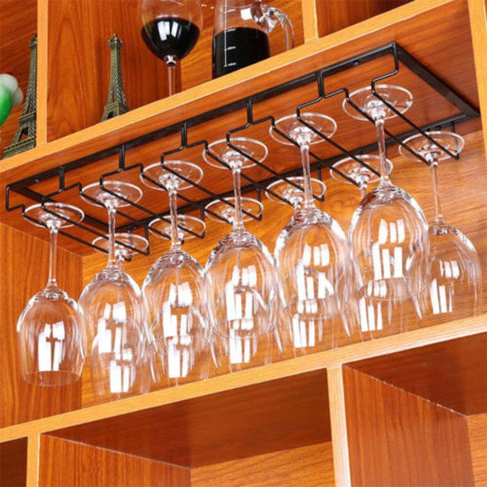 Criativo Copo de Vinho De Ferro Pendurado Titular Taça Taça Taças de Vidro Rack de Armazenamento Prateleiras de Cozinha Bar Gabinete Closet Organizador Interior