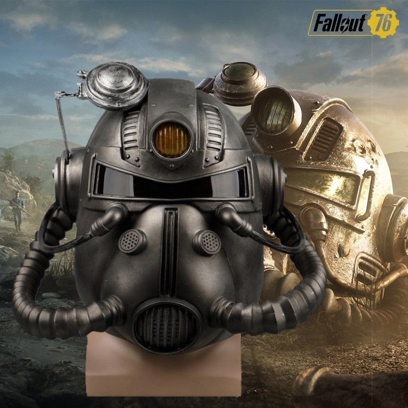 Fallout 76 4 Cosplay Nate Mask PC Game Costume Sole Survivor Headwear Halloween Helmet Carnival Props PVC Accessories Party image