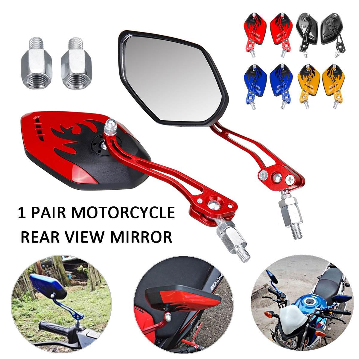 1 Paar Universal Motorrad Rückspiegel 8/10mm 360 Grad Rotation Motorrad Motorrad Roller Rückansicht Seite Zurück Spiegel