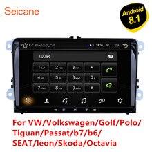 Seicane Radio Multimedia con GPS para coche, Radio con reproductor, Android 8,1, 2DIN, navegador, para Volkswagen, Golf, Polo, Tiguan, Passat, b7, b6, SEAT, leon, Skoda, Octavia
