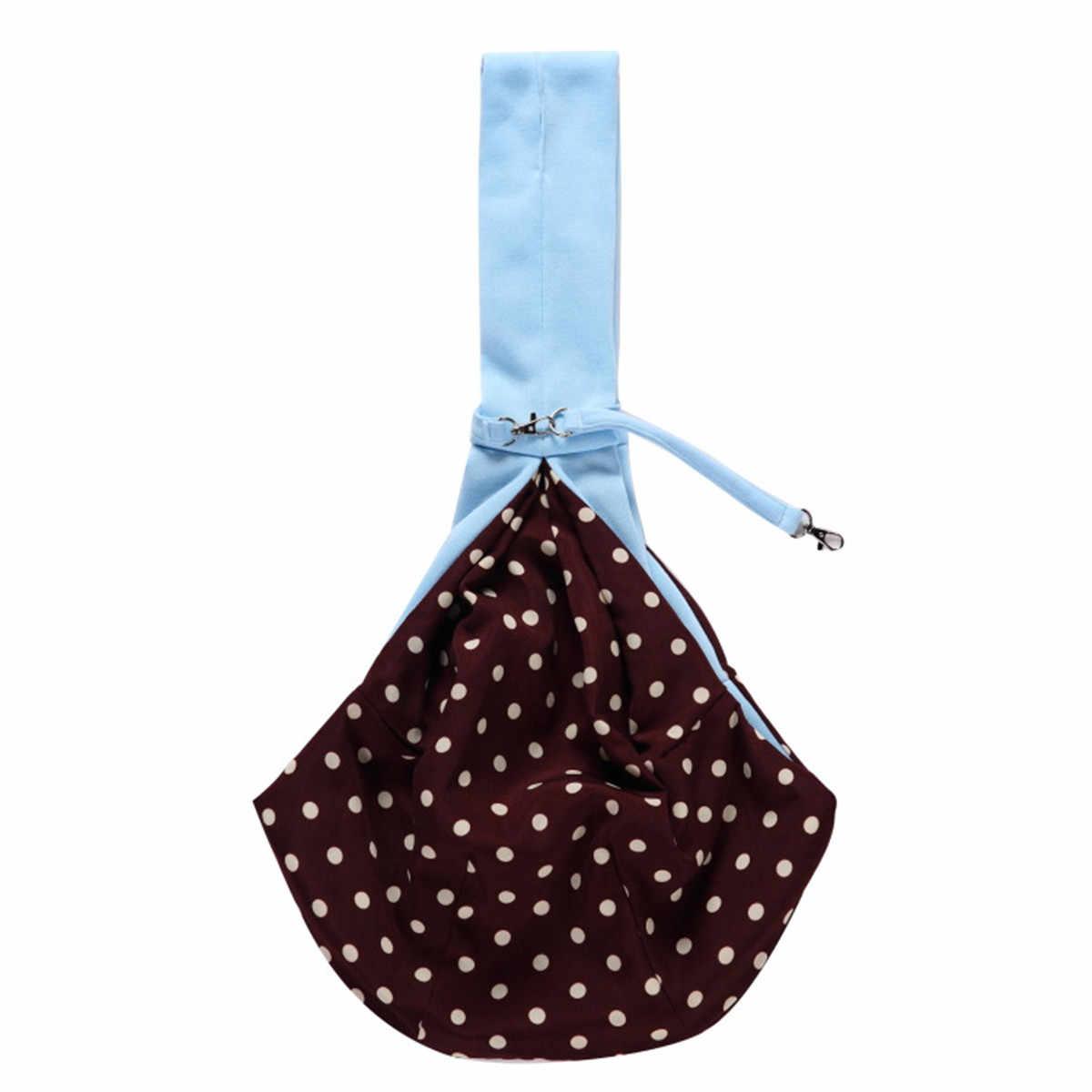 Реверсивный собака сумка для переноски собак плечевой ремешок сумка дорожная Сумочка розовый/темно серый/синий полиэстер + хлопок 77x46 см
