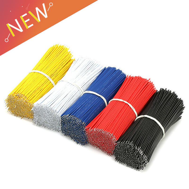 600pcs Breadboard Jumper Cable Wires Tinned 100MM Black /& Red