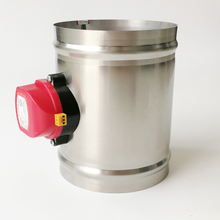 150mm electric damper ,220V electric damper used for smoke pipe or air fresh pipe of garage or basement