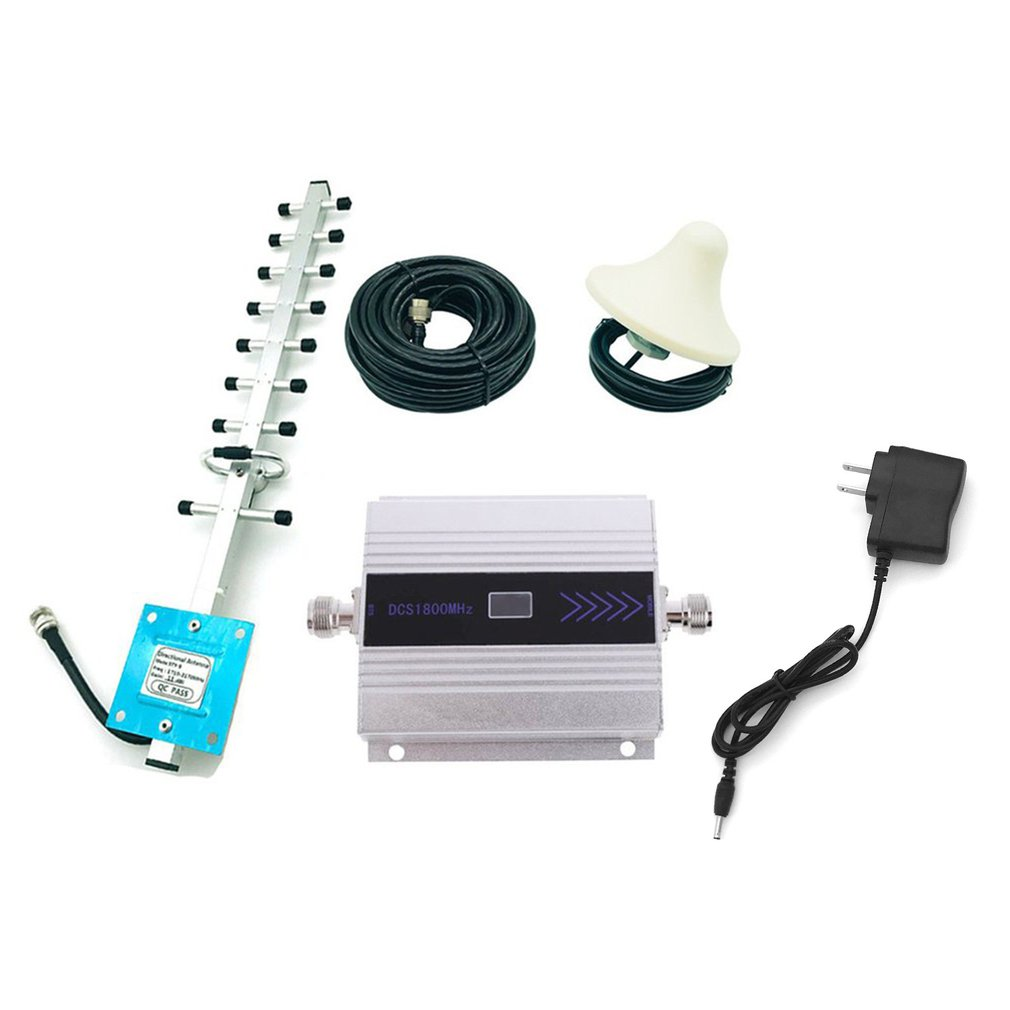 4G 1800MHz LTE DCS Mobile Signal Booster GSM Repeater LTE Amplifier With High Gain Aerial Portable Signal Extender