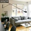Скандинавский настенный светильник Simlpe  черный  белый  с вилкой  с поворотной длинной ручкой  настенные светильники для гостиной  светодиод...