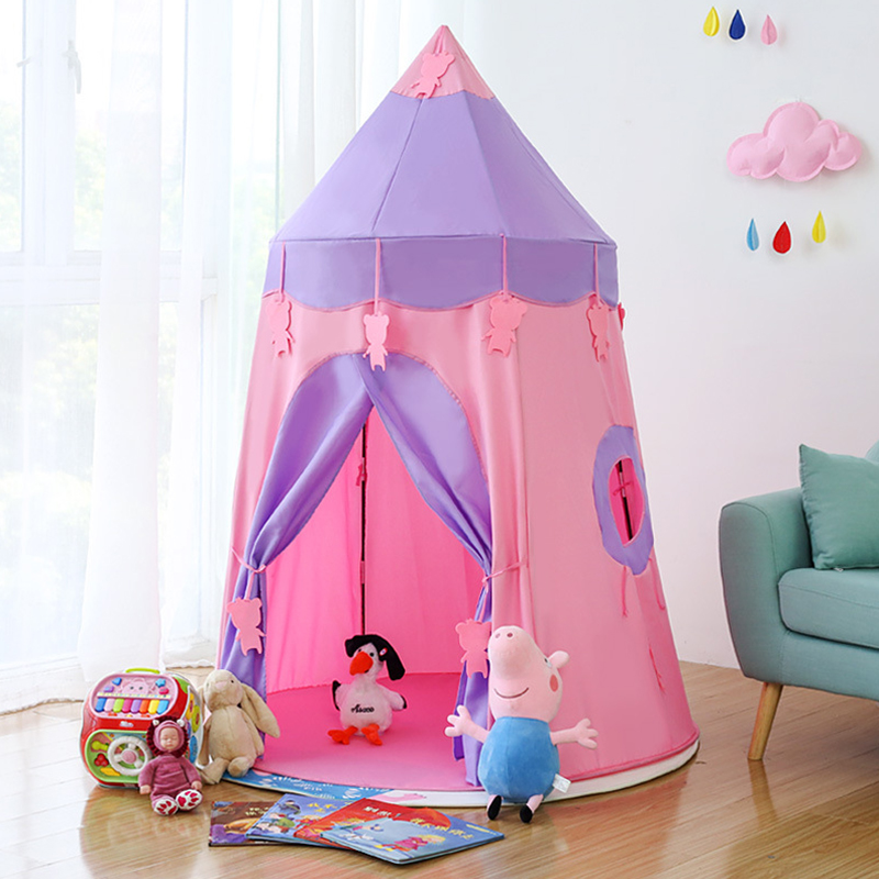 New Arrival Children Tent Play House Home Princess Girl Indoor Baby Castle Adorable Gift Play Tent For Kids 0 - 6 Years Old