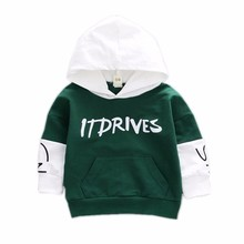 2019 New Spring Autumn Fashion Baby Clothes Boys Girls Cotton Leisure Hooded Sweatshirts Infant Letter Blouse Kids Hoodies Tops