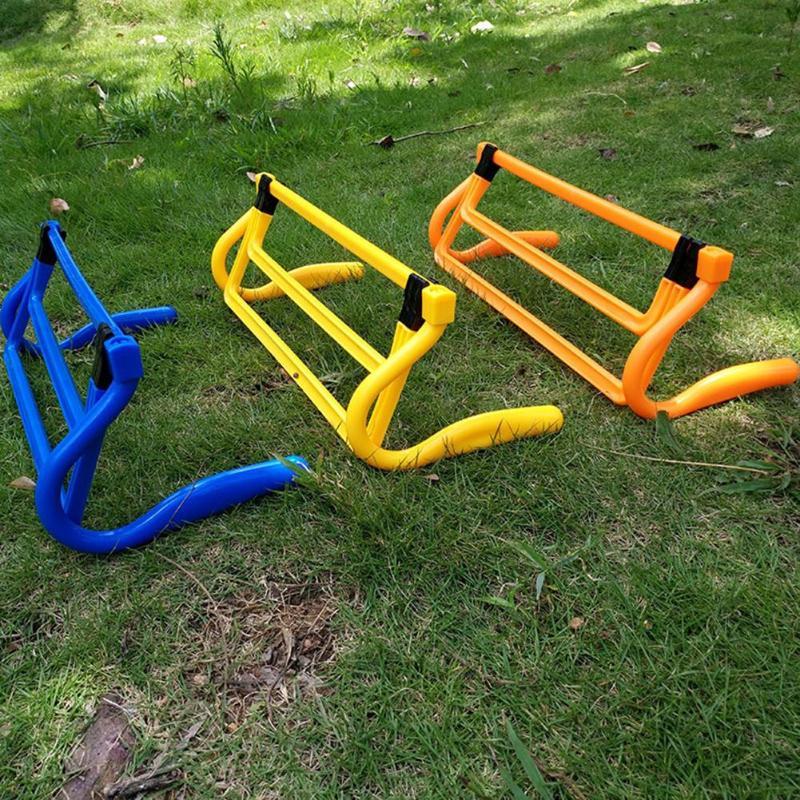 Hot Hurdle Foldable Removable Football Barrier Frame Soccer Assembled Adjustment Height Barrier For Training Sensitive Speed