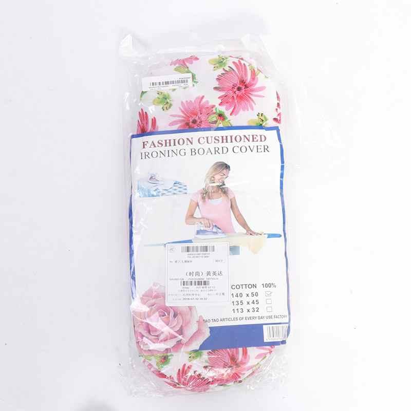 Ткань с цветочным принтом гладильная доска термостойкая крышка полиэстер Войлок мягкий чехол 140*50 см держатель ткани легко установить
