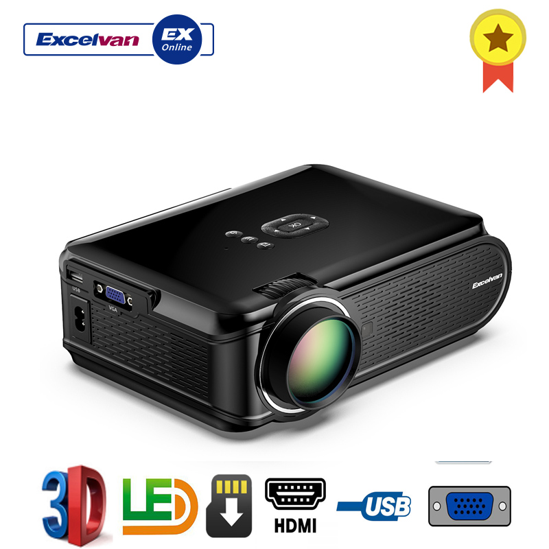Excelvan BL 90 Projector Portable Mini LED 800x480 1080p 1000 Lumens For Home Cinema Theater With