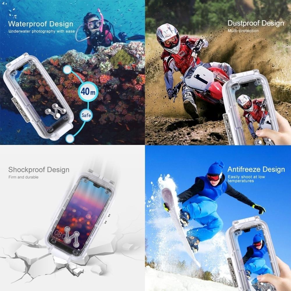 Caisson étanche de plongée professionnel pour Huawei P20 Pro boîtier 40 M vidéo prenant la couverture sous marine pour Huawei P20 Pro - 3