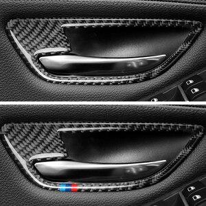 Image 5 - Para BMW serie 5 F10 2011, 2012, 2013, 2014, 2015, 2016, 2017 4 Uds de fibra de carbono coche puerta manija de la puerta de la cubierta de cuenco