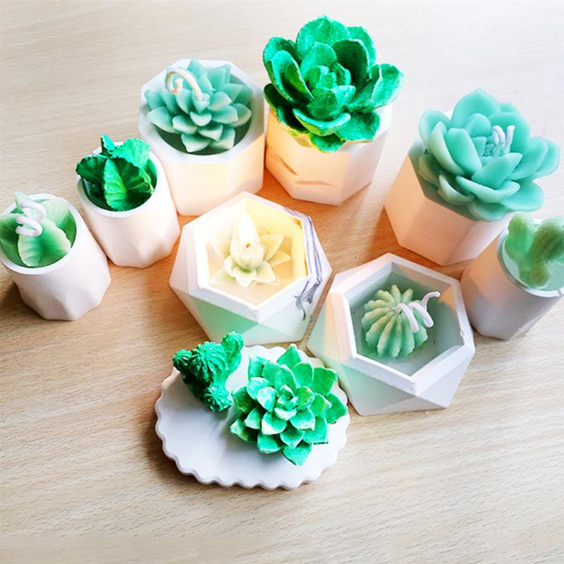 Cake Mold 3D Silicone Succulent Cactus Candles Handmade