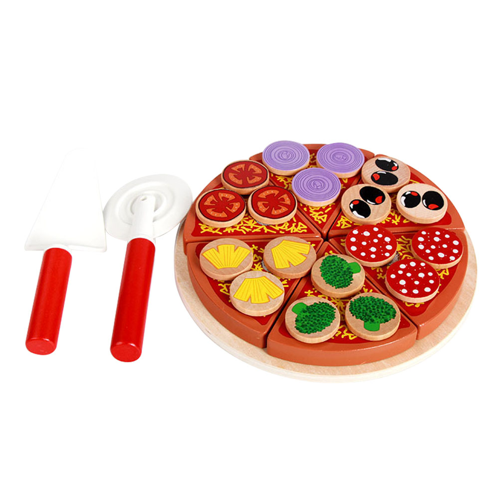 Toys & Hobbies United 14pcs Children Pretend Play Toy Wooden Hot Pot Induction Cooker Mushroom Tomato Onion Knife Fish Kitchen Toys Playset