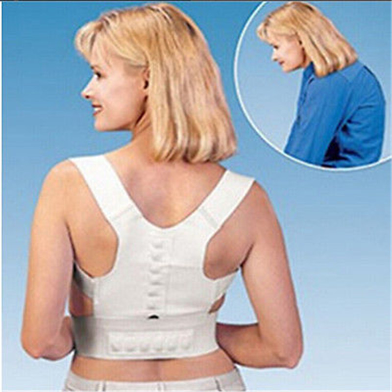 Fitness Tank Top Women Magnetic Therapy Posture Corrector Body Back Pain Belt Brace Shoulder Support Body Shape Women Crop Top