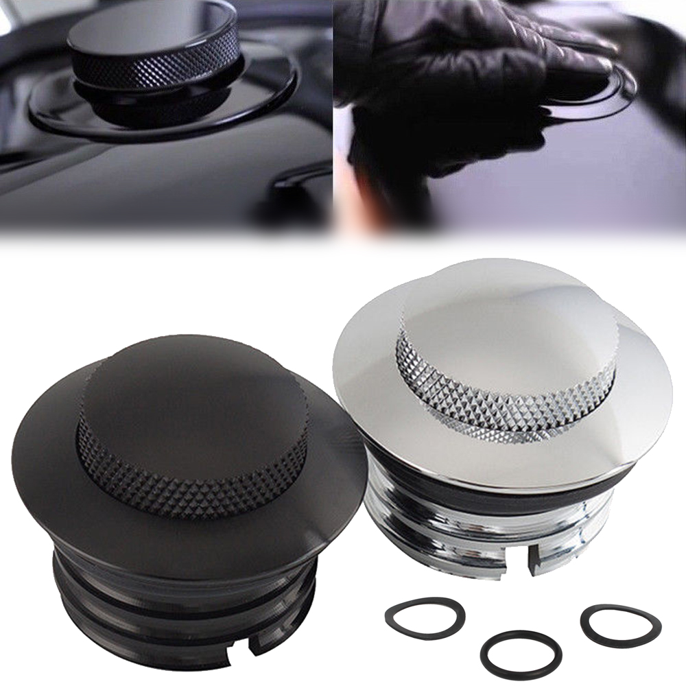 Mayitr Pop-Up Gas-Cap O-Ring Softail Motorcycle H-Arley Aluminum with for Dyna Fat Bob