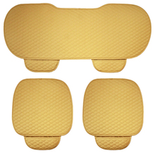 Beige Color Car Seat Covers PU Leather Universal Auto Interior Accessories Four Season Car-styling