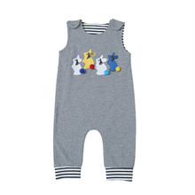 hot deal buy fashion newborn infant baby boy girl cartoon rabbit easter sleeveless cotton romper jumpsuit clothes baby clothes baby rompers