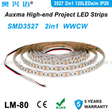 3527 2in1 120LEDs/m LED Strip,WWCW CCT IP20 DC12V/24V,19.2W/m,600LEDs/Reel,5meter/Reel,Non-waterproof ,for living room bedroom