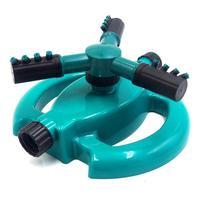 360 Rotatable Auto Rotação Conveniência Completa Conjunto de Rega de Plástico Trigeminal Gramado Sprinkler Rega Pulverizador Do Jardim