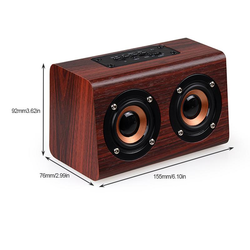 Image 5 - Portable Player Retro Wireless Bluetooth Speakers Handcrafted Wooden Stereo Hd Sounds Surround Devices For Travel Home Outdoor-in Portable Speakers from Consumer Electronics