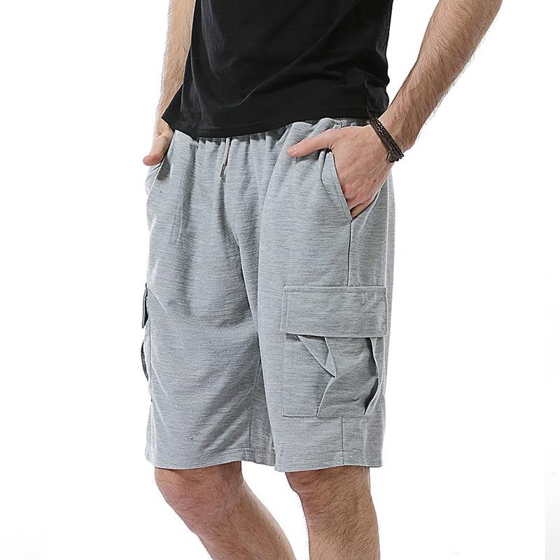 Solid Color More Pocket Brand Mens Jogger Gym Shorts Men Casual Beach Sweatpants Promotion