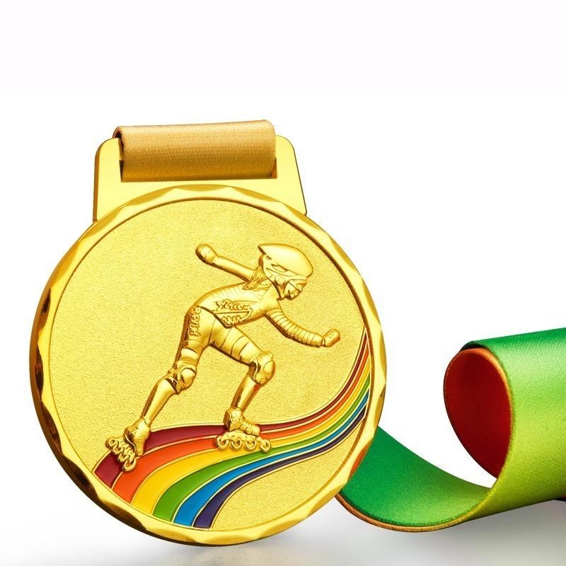 1b7db22158a Best Roller-skating Match Medal Customize Metal Roller Skating Medals  Badges Customized Honor Gold Medal