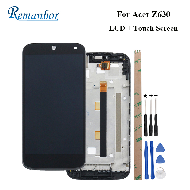 Remanbor For Acer Z630 LCD Display + Touch Screen With Frame 5.5 Assembly Repair Parts For Acer Z630 With Tools And AdhesiveRemanbor For Acer Z630 LCD Display + Touch Screen With Frame 5.5 Assembly Repair Parts For Acer Z630 With Tools And Adhesive