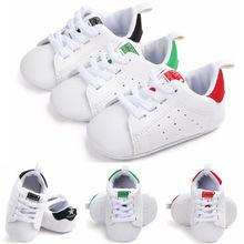 07a8e871c طفل حذاء طفل الوليد بنين بنات لينة سوليد سرير أحذية الدانتيل جميلة أطفال  Prewalker(China