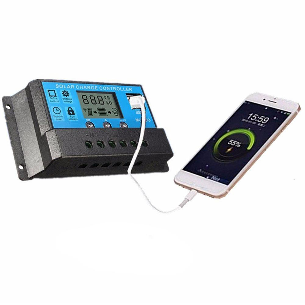 Mobile Phone Accessories Ingenious New 10/20/30a 12v/24v Solar Charge Controller Timer Light Usb Lcd Battery Regulator
