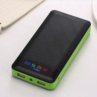 Power Bank 20000mAh Powerbank 2 USB External Battery Pack batterie externe portable charger for xiaomi iPhone huawei Samsung