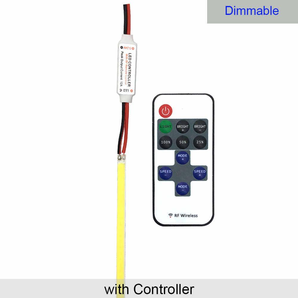 10 Pcs 600 Mm Light LED COB Strip Hangat Dingin Warna Putih 12V LED Bar Lampu untuk Dekorasi Mobil pencahayaan Lampu Kerja DIY 600*6 Mm Tongkol Bulb