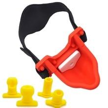 4pcs Silicone Piss Urinal Bite Plug Mouth Gag Ball Bondage Fetish Harness Slave BDSM Adult Games Sex Toys For Women Man цена и фото