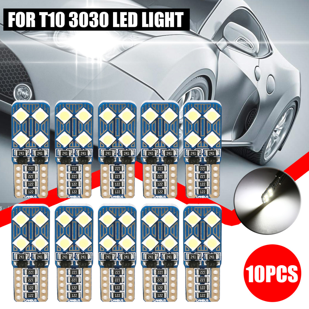 Mayitr 10pcs T10 3030 8LED Canbus Error Free Car Light Super White Auto Side License Plate Signal Lamp Bulb for Car Lighting in Signal Lamp from Automobiles Motorcycles