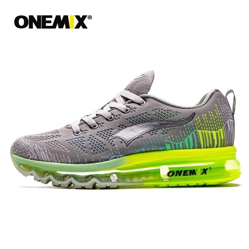 Onemix men's sport running shoes music rhythm men's sneakers breathable mesh outdoor athletic shoe light male shoe size EU 39-47 - 2