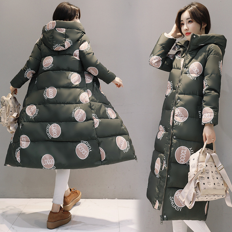 Hooded Winter Down Coat Jacket Long Warm Slim Women Cotton padded Casaco Feminino Abrigos Mujer Invierno Wadded Parkas Outwear 8 in Down Coats from Women 39 s Clothing