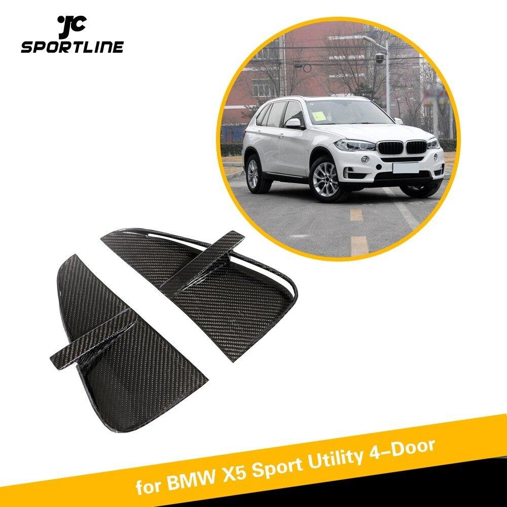 Évents de pare-chocs avant pour BMW F15 X5 2014-2018 Base Sport utilitaire et M Sport en Fiber de carbone voiture autocollant décoration garnitures