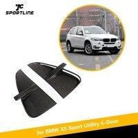 Передний бампер вентиляционные отверстия для BMW F15 X5 2014 2018 база Sport Utility и M спорт углеродного волокна декоративная наклейка для автомобиля пл
