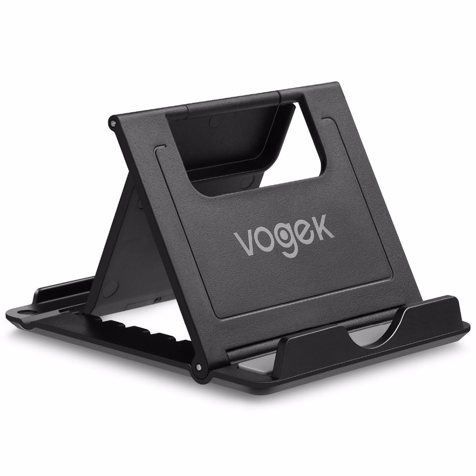 Vogek Plastic Cell Phone Holder Stand Flexible Folding Mobile Phone Holder for iPhone XS 8 7 Samsung Adjustable Stand for Tablet in Phone Holders Stands from Cellphones Telecommunications