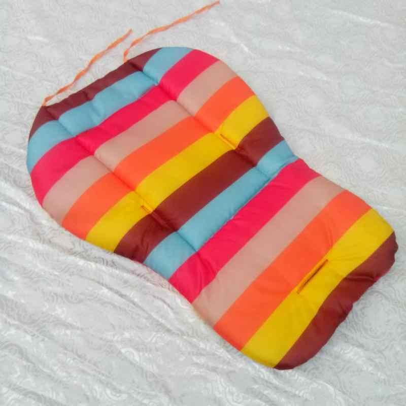 Macio grosso pram almofada cadeira arco-íris cor bb carro crianças assento de carrinho de bebê infantil à prova dwaterproof água almofada de almofada 68*45*3cm novo