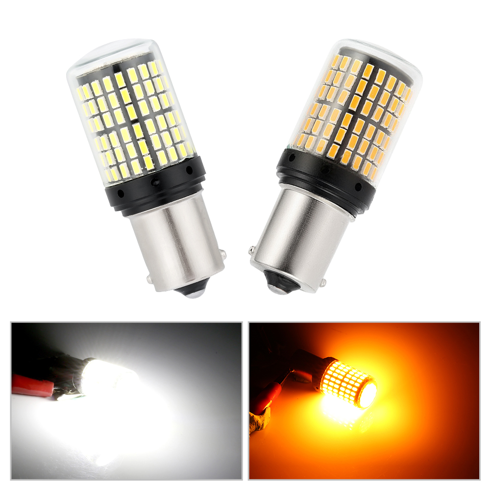 1PC 1156 BA15S BAU15S <font><b>P21W</b></font> <font><b>LED</b></font> Turn Signal Lights Bulb 14W 12V <font><b>Error</b></font> FREE <font><b>Led</b></font> Bulbs 3014 144smd CanBus <font><b>No</b></font> Hyper Flash Fog Light image