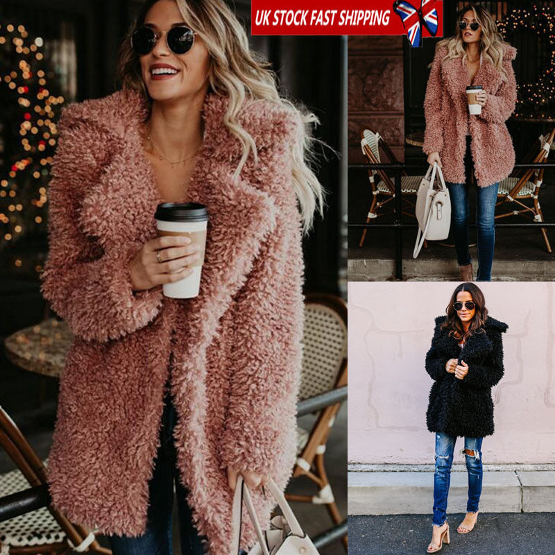 2930e5e9585b Detail Feedback Questions about Hirigin Harajuku Warm Coat 2018 Newest Womens  Teddy Bear Oversized Coat Ladies Borg Zip Faux Fur Jacket Size 8 18 on ...