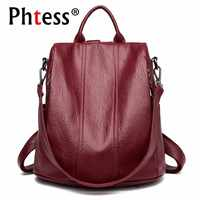 2019 Female Leather Backpacks Sac A Dos Ladies Bagpack School Bags For Girls Travel Large Capacity Back Pack Casual Daypack New