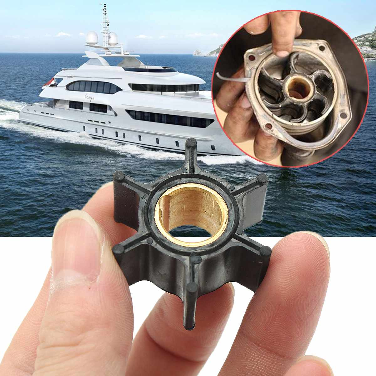 hight resolution of 386084 18 3050 500355 boat outboard motors water pump impeller for johnson evinrude 9 9 15hp outboard replacement rubber