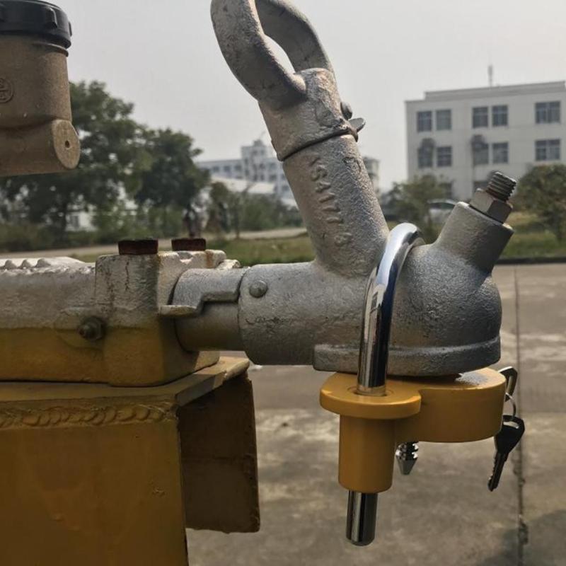 Universal Useful Heavy Duty Hitch Lock Caravan Trailer Ball Coupler Lock Yellow