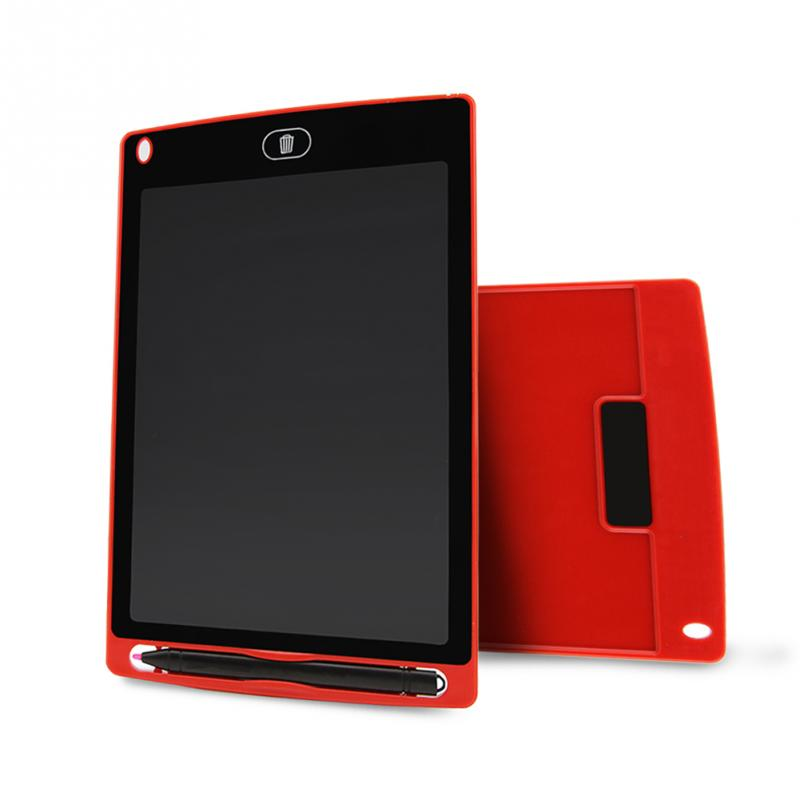 High Luminance 8.5-inch LCD Writing Board Portable Drawing Tablet Electronic Ultrathin LCD Handwriting Draft Pads Red