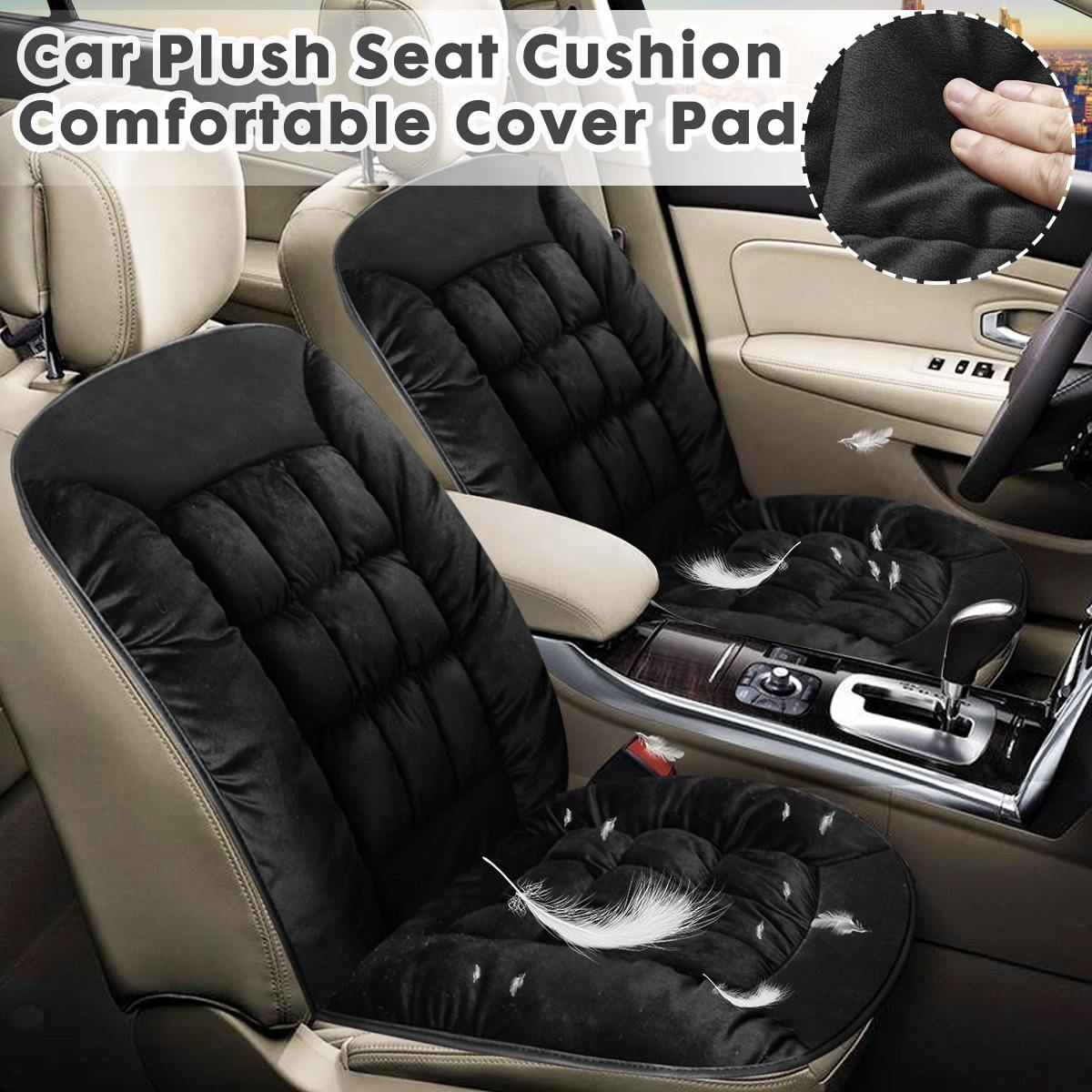 Interior-Accessories Seat-Cover Fabric Winter-Pad Cushion Styling Universal Car Black